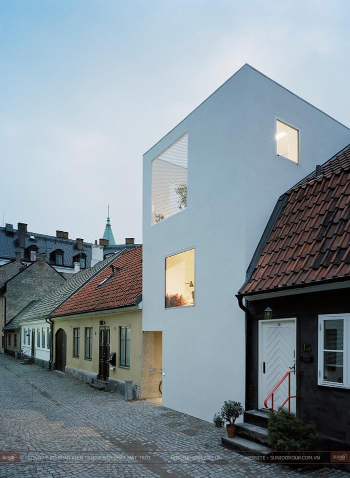 Thiết kế nhà phố hiện đại giữa khu phố cổ