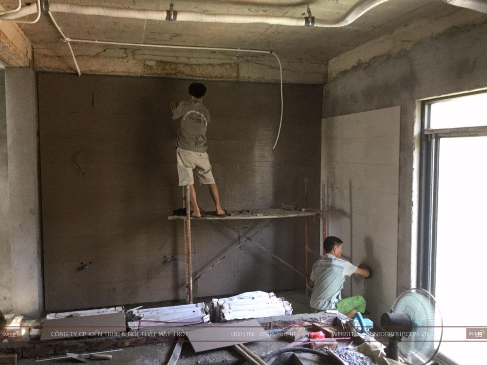 Dịch vụ hoàn thiện nhà xây thô liền kề