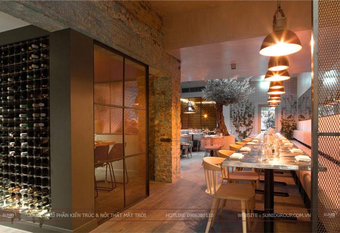 Thiết kế nội thất nhà hàng theo phong cách hiện đại - Bắc Ninh