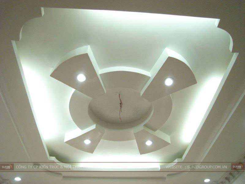 Thi công trần nhà đẹp
