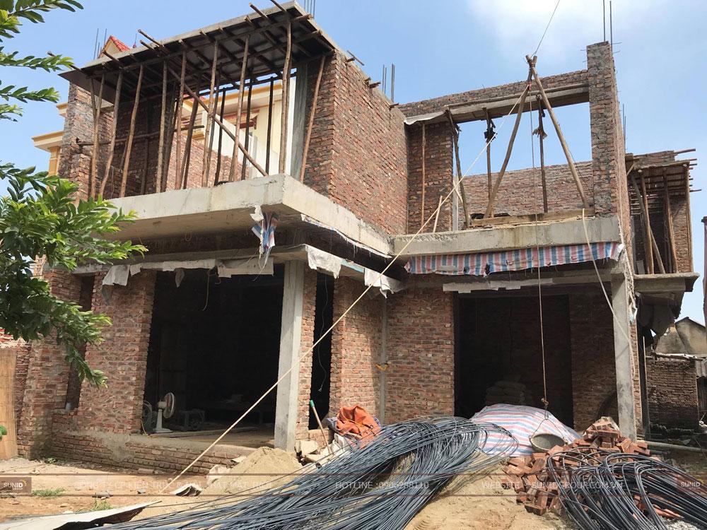 Thi công xây dựng biệt thự hai tầng tại Hà Nam – anh Huy