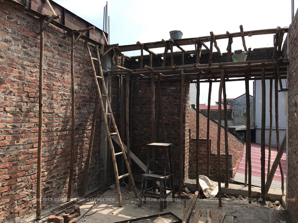 Thi công xây dựng nhà hai tầng tại Hà Nam