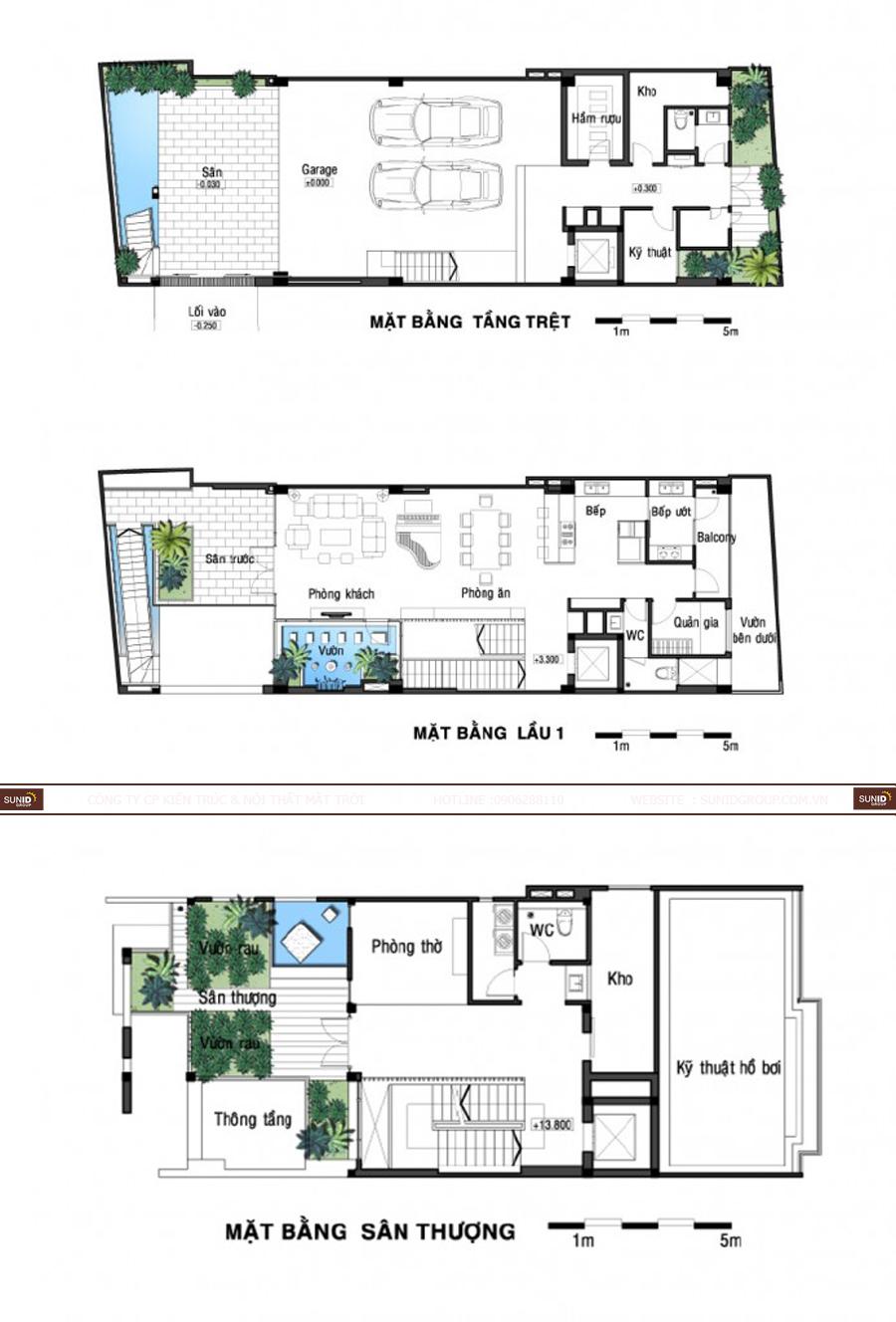 Thiết kê kiến trúc và nội thất biệt thự tại Hải Phòng