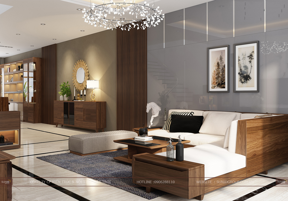 Thiết kế nội thất biệt thự Lousi City Đại Mỗ