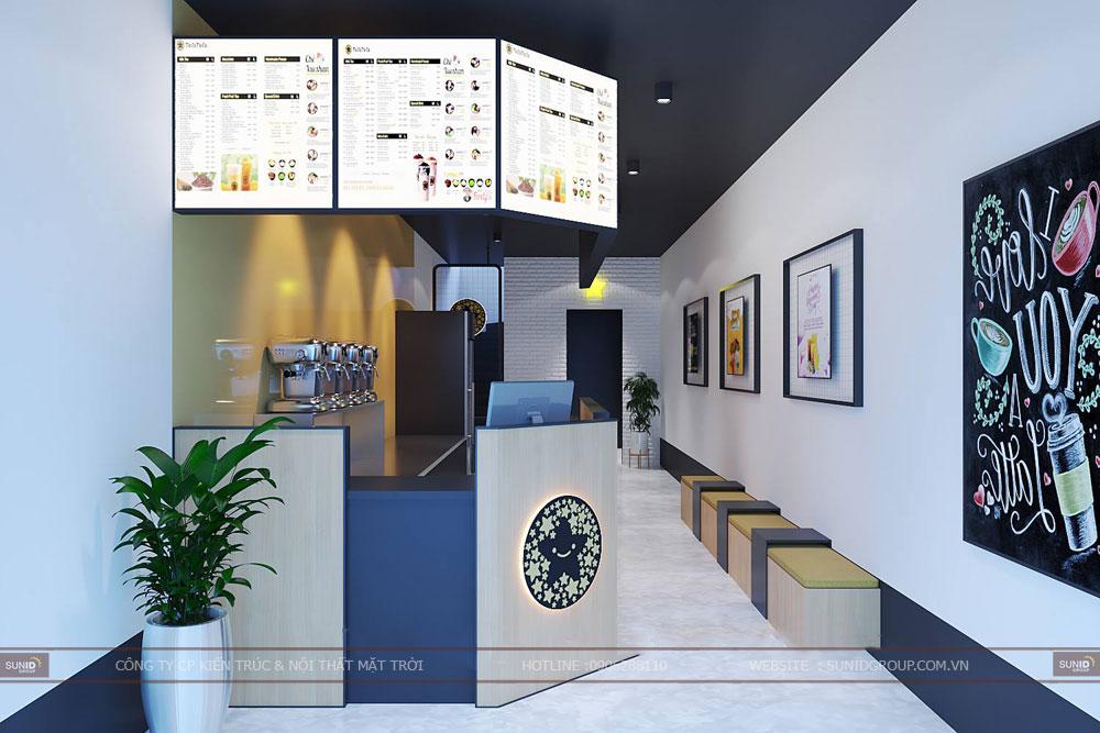 Thiết kế nội thất cửa hàng trà sữa – Tocotoco