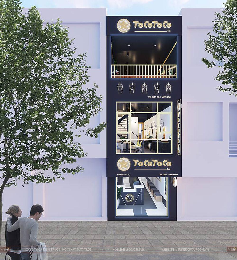 Thiết kế nội thất cửa hàng trà sữa Tocotoco