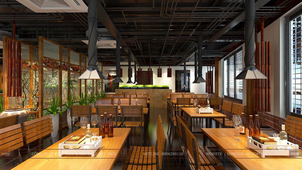Thiết kế nội thất nhà hàng tại Hải Phòng
