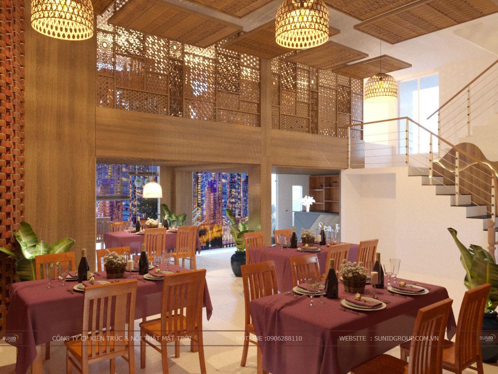 Thiết kế nội thất nhà hàng tại Quảng Ninh – Nhà hàng Hải Sản Sao Việt