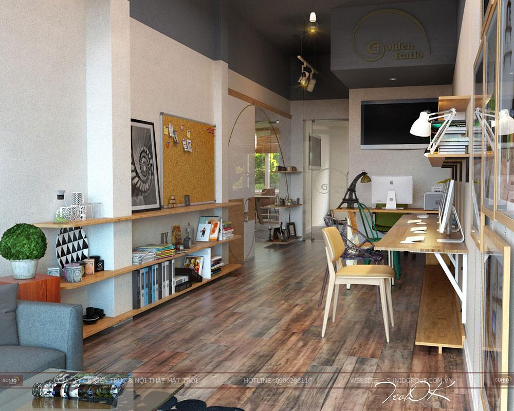 Thiết kế nội thất văn phòng mini quận Hoàng Mai