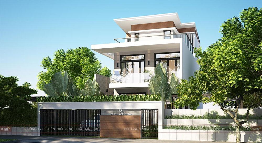 Thiết kế kiến trúc biệt thự tại Đà Nẵng