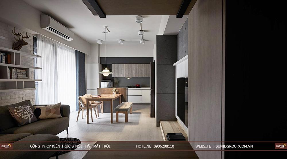 Thiết kế nội thất chung cư CT4 Vimeco – Căn CH-4A