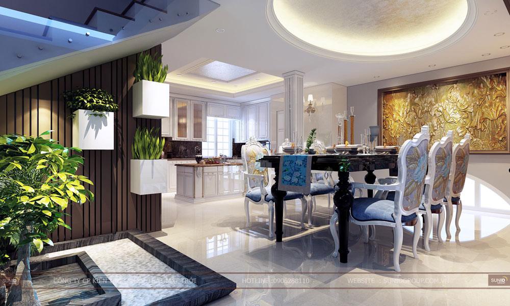 Thiết kế kiến trúc và nội thất biệt thự tại Nam Định