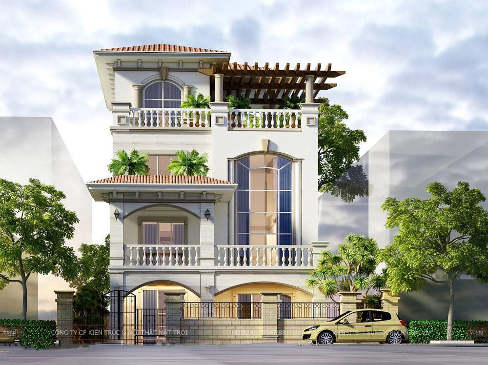 Thiết kế kiến trúc và nội thất biệt thự tại Nam Định – Tân cổ điển