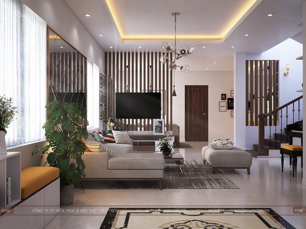 Thiết kế nội thất biệt thự liền kề VINHOMES GREEN BAY Mễ Trì – Hiện đại