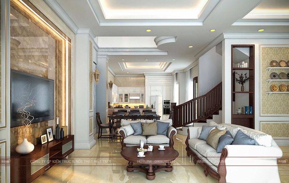 Thiết kế nội thất biệt thự liền kề Vinhomes Green Bay Mễ Trì – Tân cổ điển