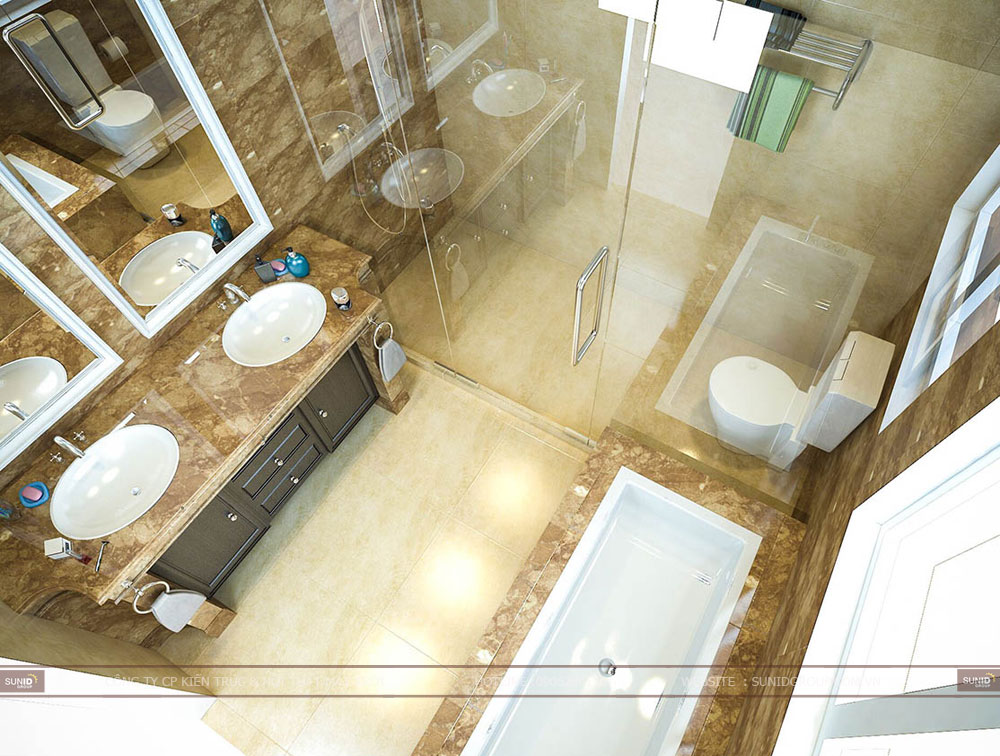 Thiết kế nội thất biệt thự liền kề Vinhomes Green Bay Mễ Trì
