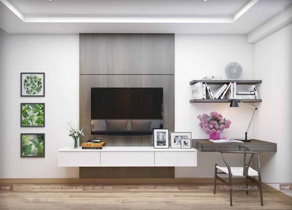 Thiết kế nội thất căn hộ chung cư The Golden An Khánh