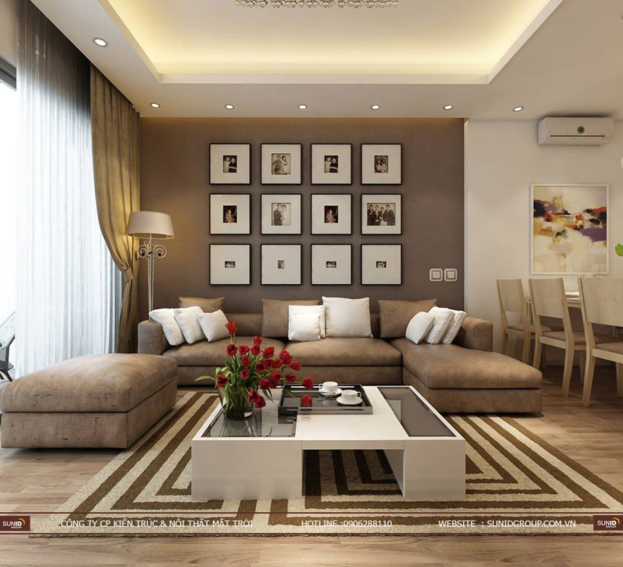 Thiết kế nội thất chung cư 87 Lĩnh Nam – Nội thất hiện đại