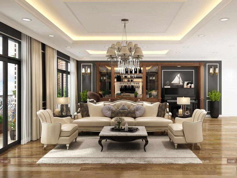 Thiết kế nội thất chung cư Roman Plaza – Tân cổ điển