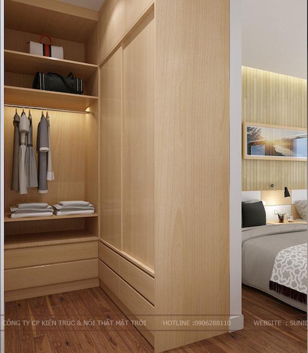 Không gian phòng thay đồ riêng cho phòng ngủ master - View 01