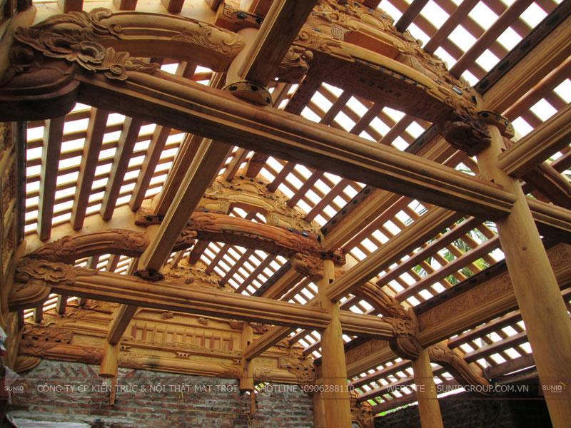 Cấu tạo kiến trúc nhà gỗ cổ truyền  nhà thờ họ
