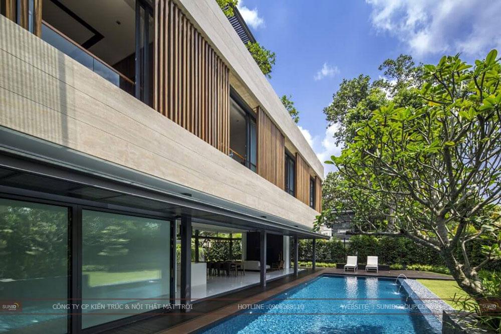 Thiết kế biệt thự vườn 2 tầng đẹp - hiện đại