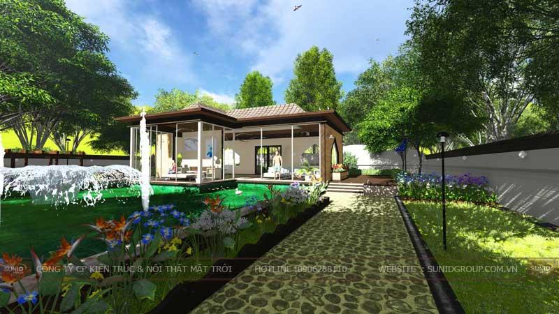 mẫu biệt thự sân vườn 4
