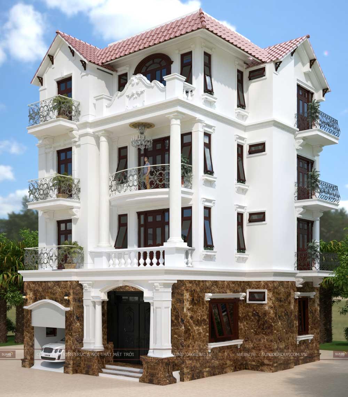 Thiết kế biệt thự tân cổ điển tại Quảng Ninh – Anh Tuấn