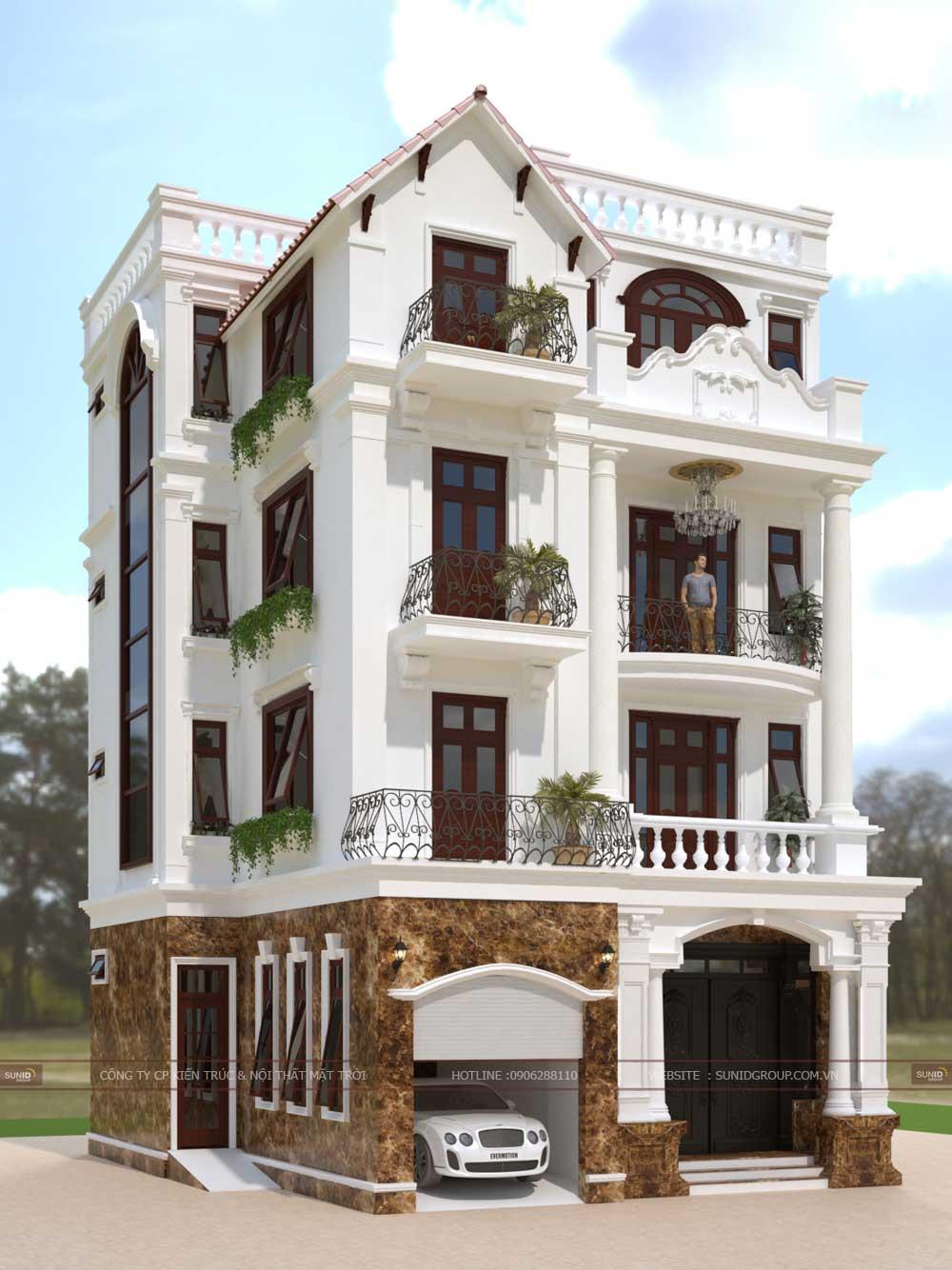 Thiết kế biệt thự tân cổ điển tại Quảng Ninh