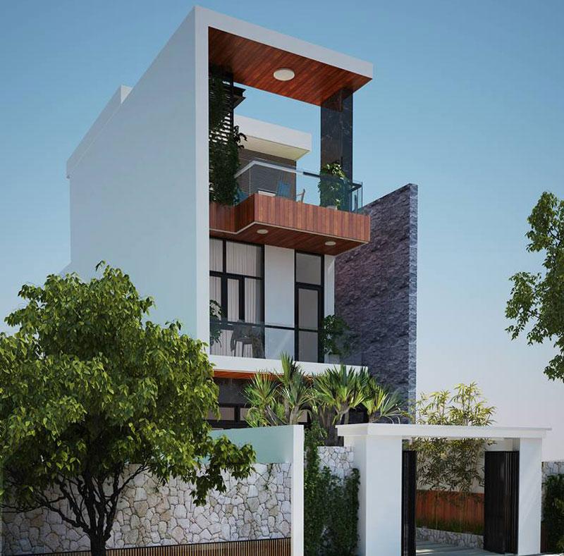 Thiết kế kiến trúc nhà ống 3 tầng – Anh Quang