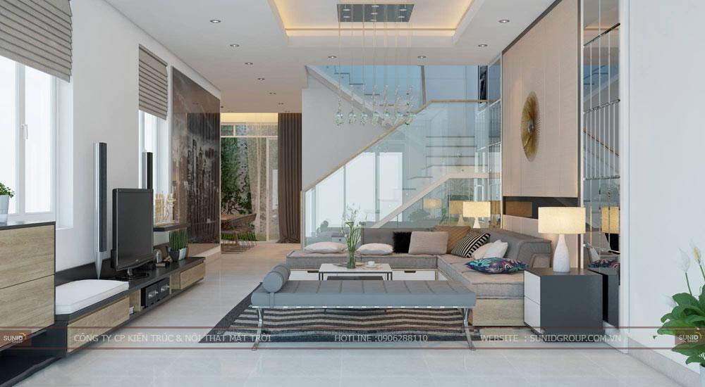 Thiết kế nội thất nhà phố quận Hoàng Mai – Chị Ly