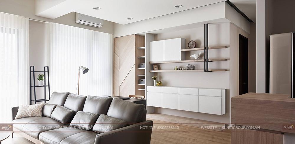 Thiết kế nội thất chung cư Sky Central