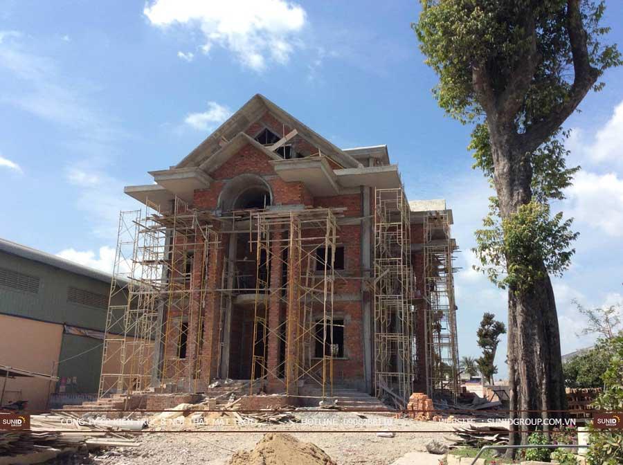 Hoàn thiện nội thất biệt thự xây thô liền kề – anh Khánh