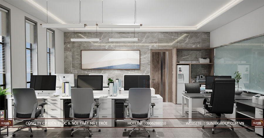 Thiết kế kiến trúc và nội thất tòa nhà văn phòng