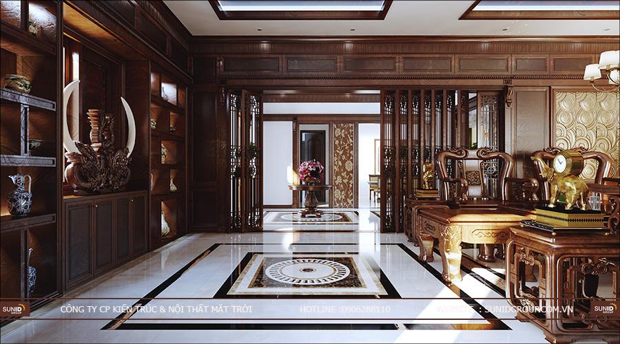 Thiết kế nội thất biệt thự Vinhomes Thăng Long chuyên nghiệp