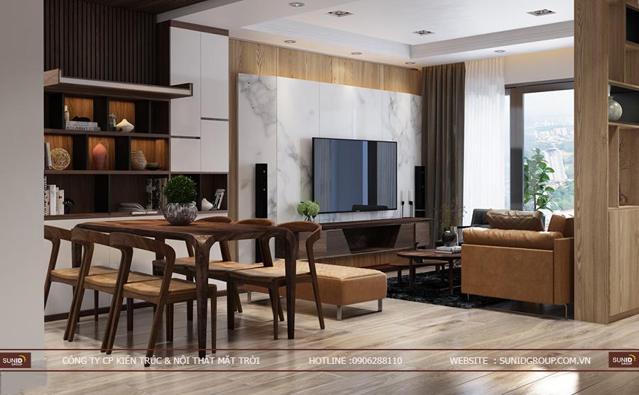 Thiết kế nội thất chung cư The K Park Văn Phú