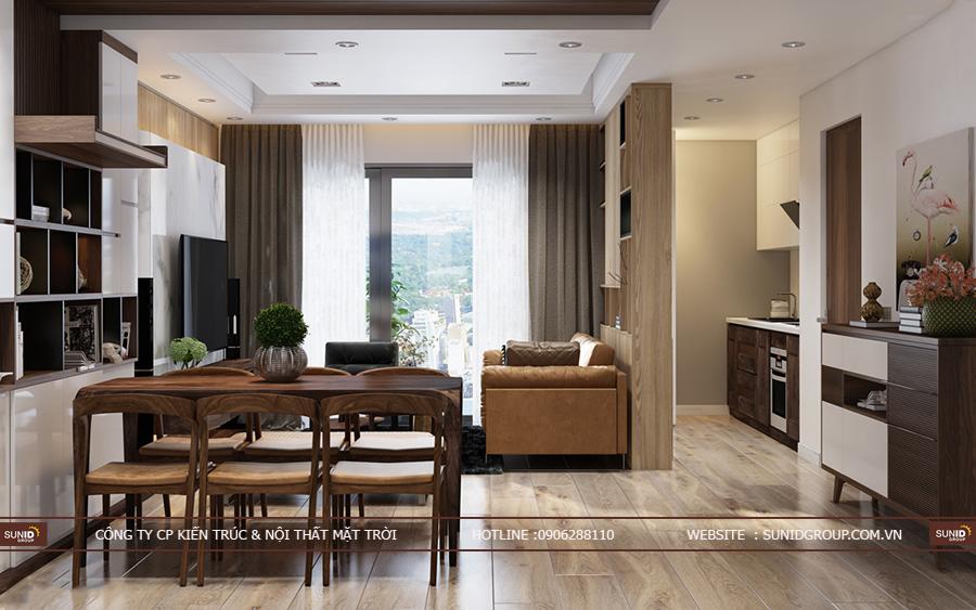 Thiết kế nội thất chung cư The K Park