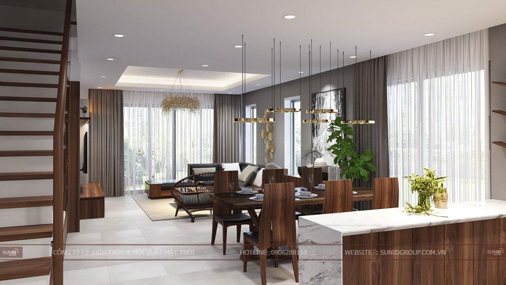 Thiết kế nội thất nhà liền kề HD Mon City Mỹ Đình