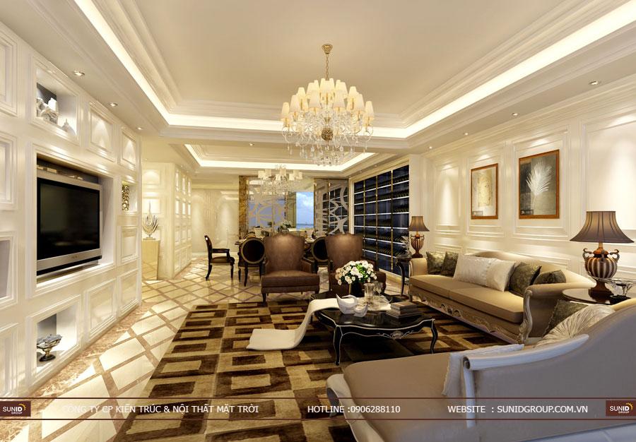 Thiết kế nội thất nhà liền kề La Casta Văn Phú