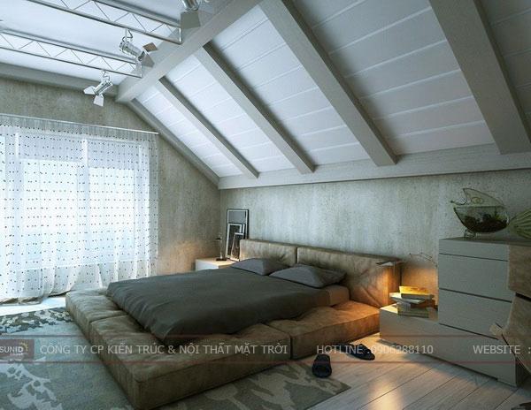 phòng ngủ tầng áp mái8