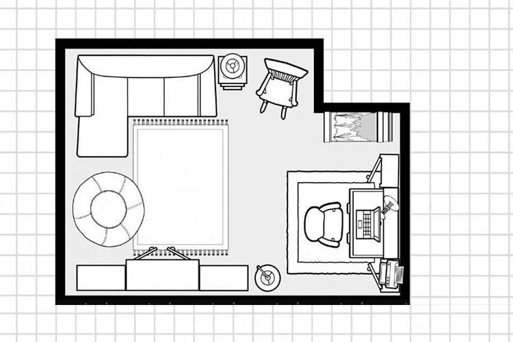 mẹo sắp xếp sofa cho phòng khách6