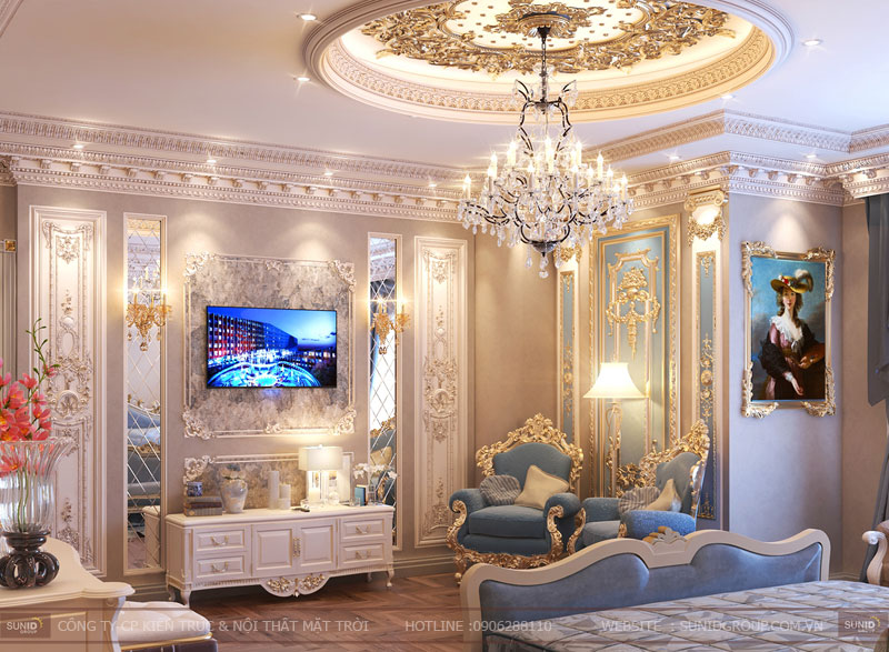 thiết kế nội thất biệt thự cổ điển hà nội11