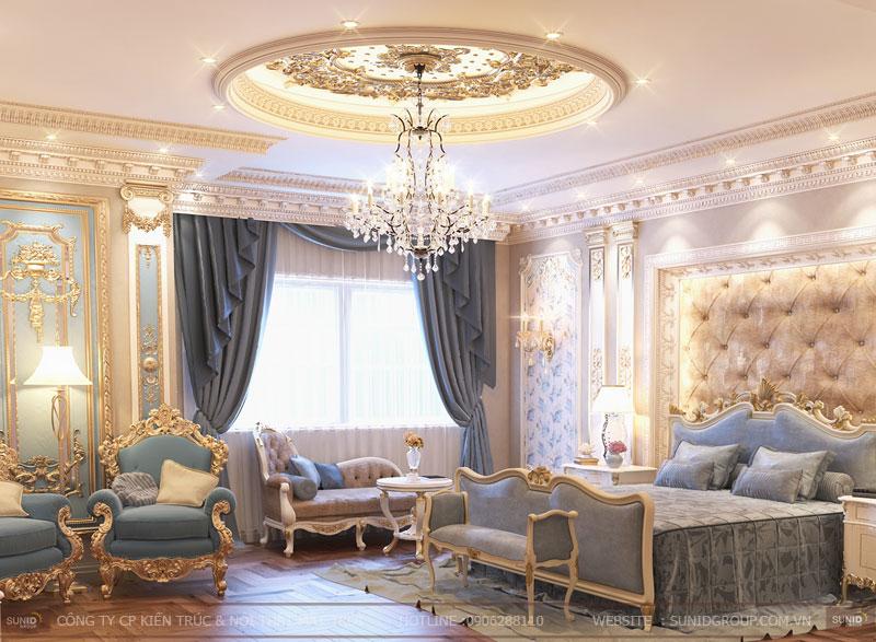 thiết kế nội thất biệt thự cổ điển hà nội12
