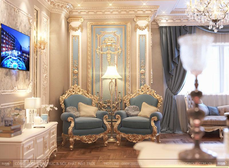 thiết kế nội thất biệt thự cổ điển hà nội13