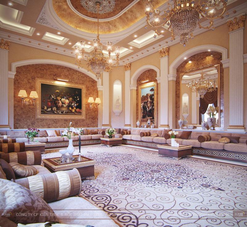 thiết kế nội thất biệt thự cổ điển hà nội14