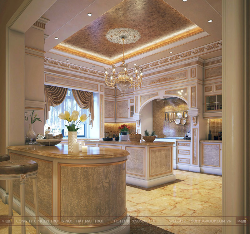 thiết kế nội thất biệt thự cổ điển hà nội15