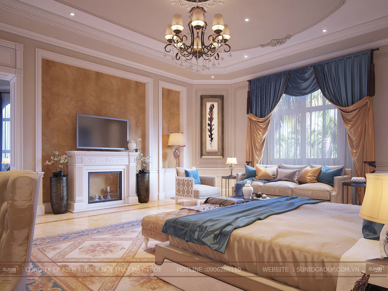 thiết kế nội thất biệt thự cổ điển hà nội6