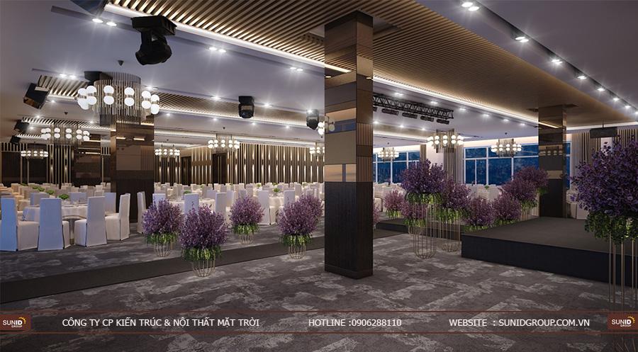 Thiết kế nội thất nhà hàng tiệc cưới – Hera