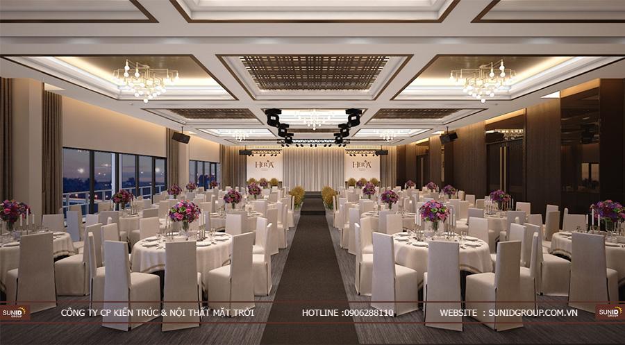 Thiết kế nội thất nhà hàng tiệc cưới