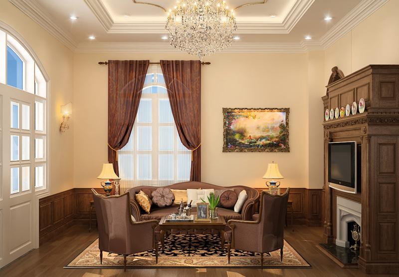 Thiết kế biệt thự tân cổ điển đẹp ấn tượng tại Hà Nội